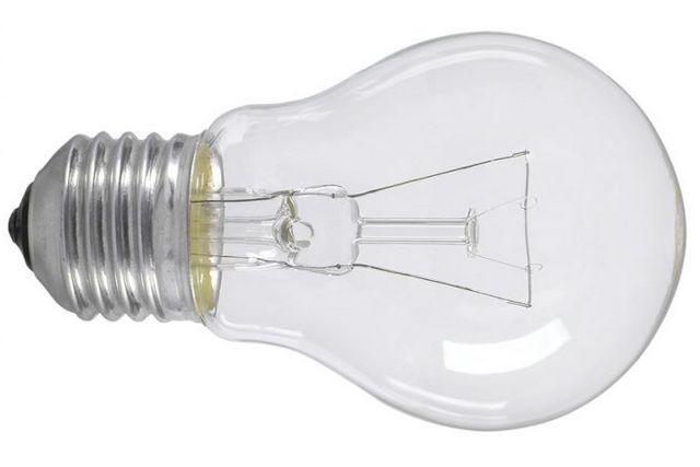 Лампа накаливания с прозрачной колбой