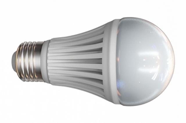 Лампа светодиодная цокольная. Цветовая температура 3000 °К («теплое» свечение). Класс энергопотребления – А. Примерный срок службы – от 30 000 до 40 000 часов