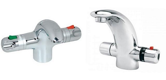 Смесители со встроенным термостатом – на выходе у них всегда будет вода заданной пользователем температуры.