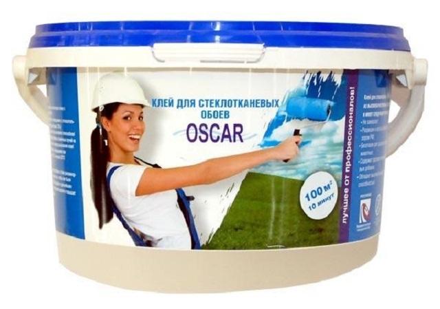 Готовый к применению клей «Oscar», предназначенный для стеклотканевых обоев, отлично подойдет и для стеклохолста с плотностью до 40 г/м².