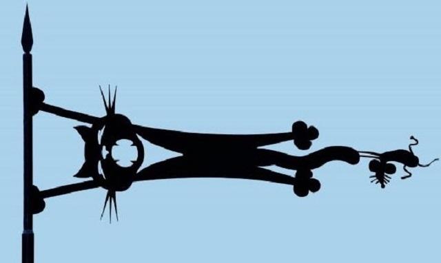 При изготовлении эскиза для флажка вполне можно проявить свою фантазию – почему бы не сделать свой флюгер эксклюзивным?