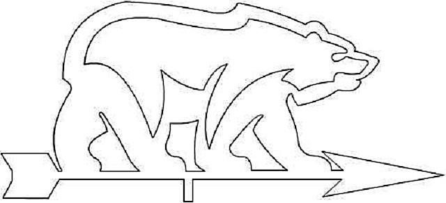 Еще один символ России – медведь, тоже наверняка станет хорошим украшением дома. Не такой он, кстати, и сложный для вырезания.