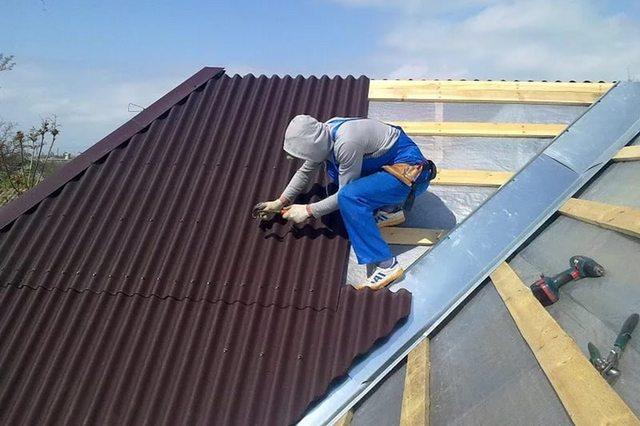 Конек для крыши из ондулина