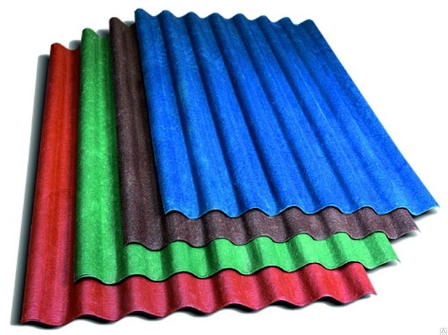 Полимер-песчаному шиферу уже в ходе производства придается определенная окраска