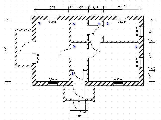План дома является хорошим подспорьем для расчета теплопотерь