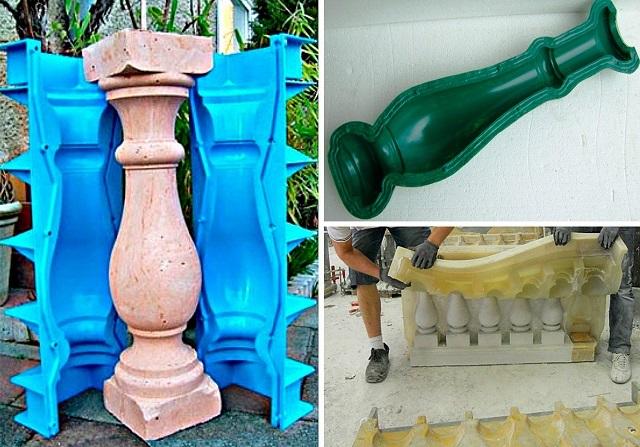 Формы для отливки балясин – штучных или блочных
