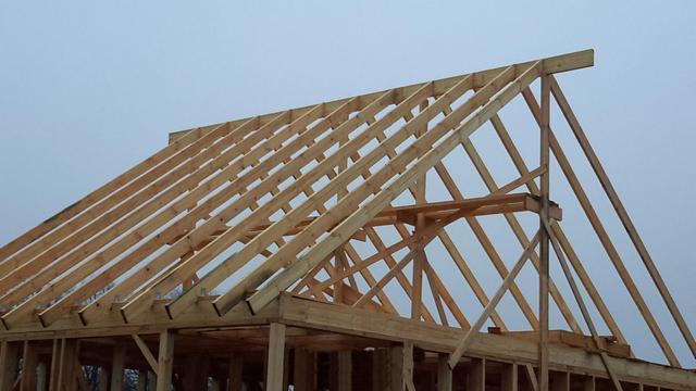 Устройство двускатной крыши частного дома схема