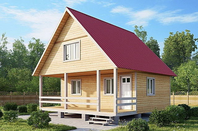 Одна из наиболее распространенных конструкций – симметричная двускатная крыша с прямыми стенками фронтонов