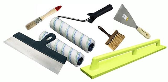 Набор инструментов для выполнения подготовительных и штукатурных работ