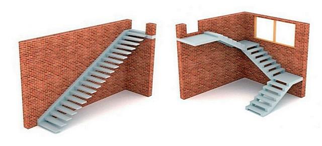 Удобная для пользования лестница может получаться слишком длинной в проекции. Значит, ее можно разделить на два или более маршей, найдя для них оптимальное расположение, чтобы экономилось пространство комнаты