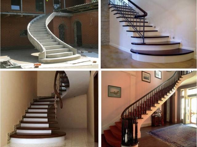 Согласитесь, что вряд ли какой другой материал, кроме бетона, позволит так смело «экспериментировать» с формами лестниц
