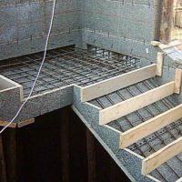 Калькулятор расчета количества бетона для заливки лестницы