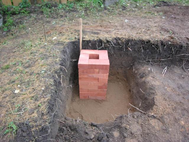 фундамент из кирпича кирпич в земле
