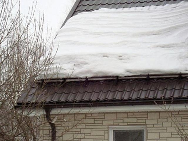 Оттепель – снег постепенно проседает, и талая вода по системе водостоков отводится в ливневую канализацию
