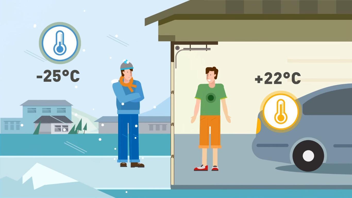 Готовим гараж к зиме: как ворота помогают сберечь тепло