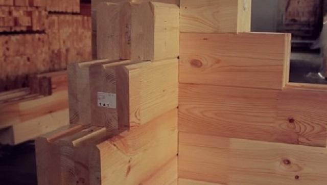 Ограждающий профилированный клееный брус – идет для возведения внешних стен и внутренних перегородок здания
