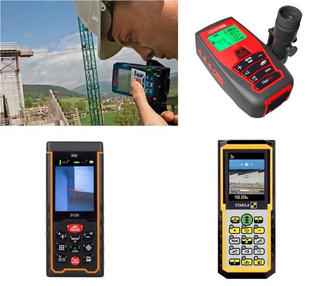 Лазерные дальномеры могут иметь встроенный или съемный оптический визир. У некоторых современных моделей на экран воспроизводится полноценное видеоизображение объекта.