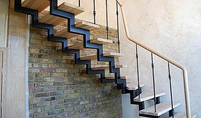 Металлическая лестница на второй этаж своими руками 49