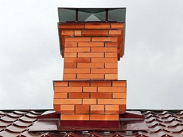 Обклады вокруг дымохода металлочерепица как сделать