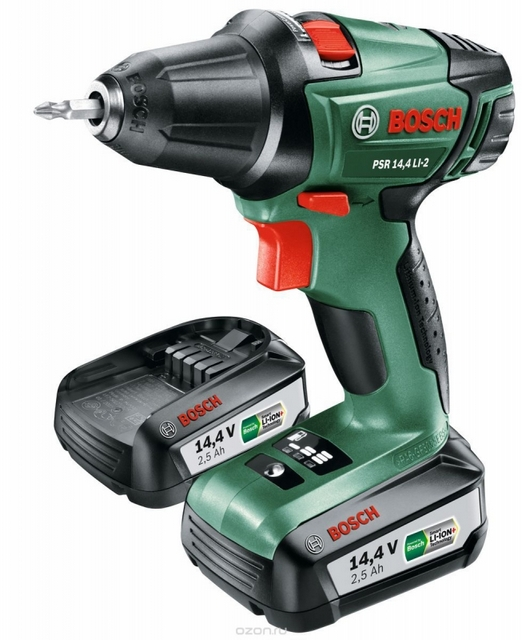 «Bosch PSR 14,4 LI-2» — один из самых удачных шуруповертов в полупрофессиональной категории инструментов