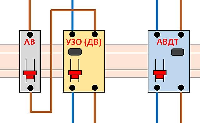 Произвести электротехнический монтаж дифференциального автомата все же немного проще, чем связки автоматического выключателя и УЗО