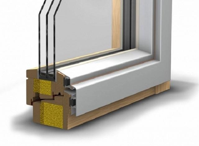 Для комплексного использования положительных качеств различных материалов и, одновременно с этим, нивелирования характерных их недостатков, практикуется производство комбинированных оконных систем.