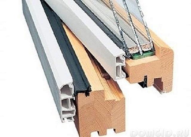 Деревянные рамы с накладками из поливинилхлорида