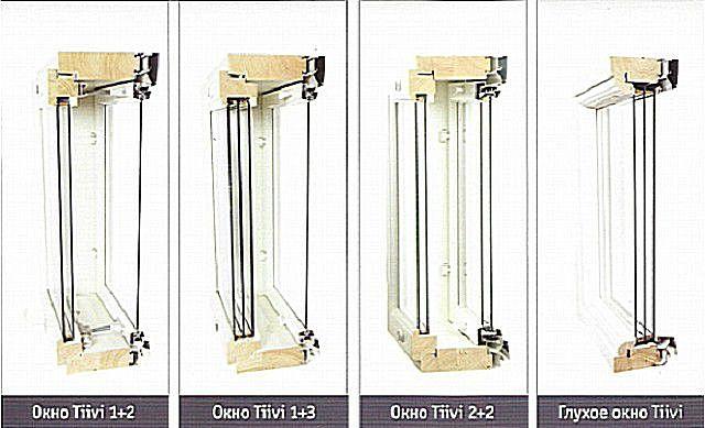 Типы окон, производимых компанией «Tiivi».