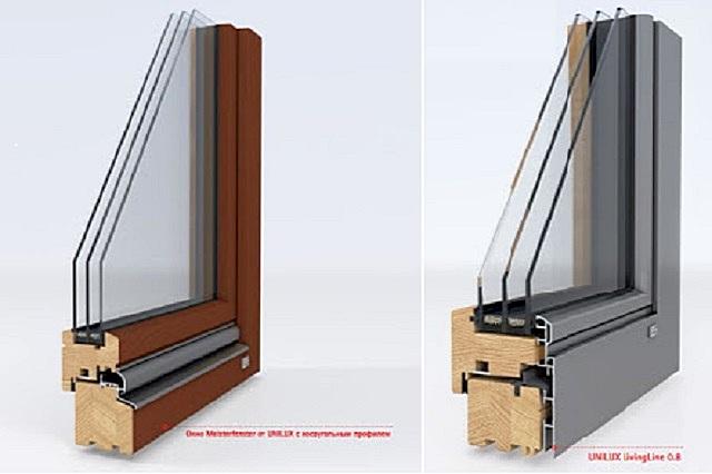 Деревянные и деревянно-алюминиевые окна «UNILUX».