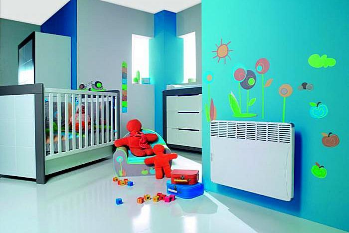 Высокий уровень безопасности эксплуатации современных электрических конвекторов вполне позволяет разместить их в детских комнатах