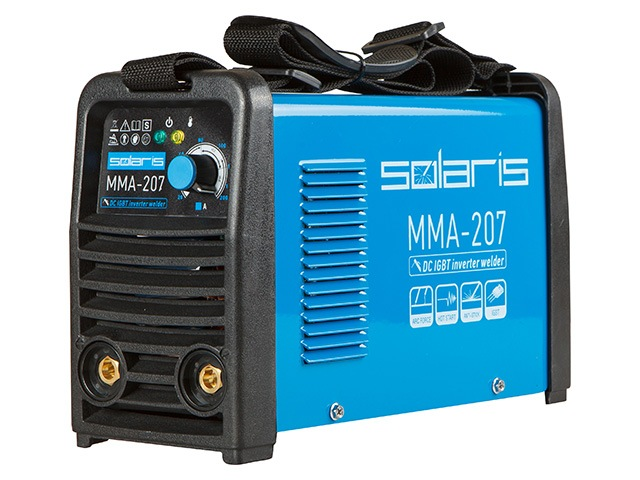 При очень компактных размерах и совсем небольшой массе ММА-инверторы обладают отличными эксплуатационными показателями с широким диапазоном регулировки сварочного тока