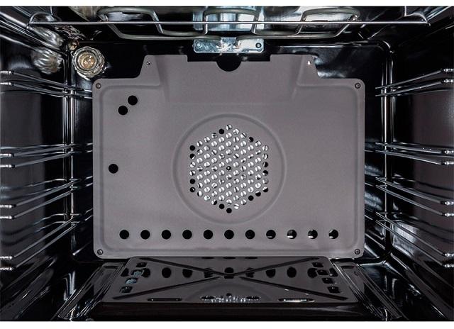 Газовая духовка с электрогрилем и конвекционным нагревом.