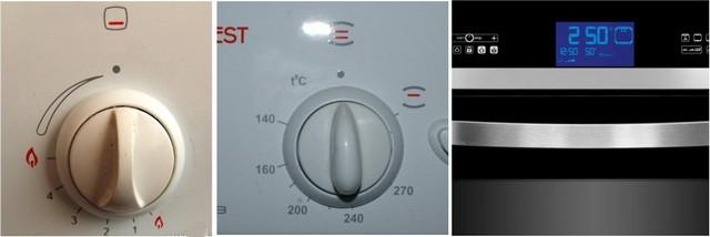 Различные подходы к выставлению температурного режима – простейшая шкала с условными делениями, шкала со значениями температур, цифровой дисплей