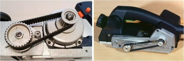 Системы передачи вращения от двигателя на рабочий барабан электрического рубанка. Ремни могут быть плоскими или зубчатыми.