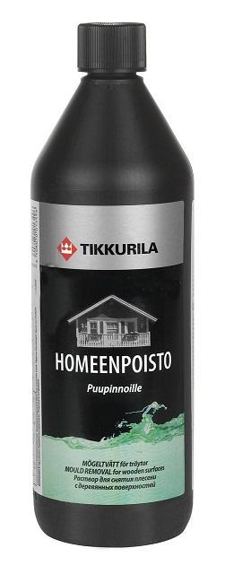 Высочайшая эффективность свойственна средству «Хомеенпойсто 1». Правда, особенности химического состава ограничивают его применение только внешними работами.