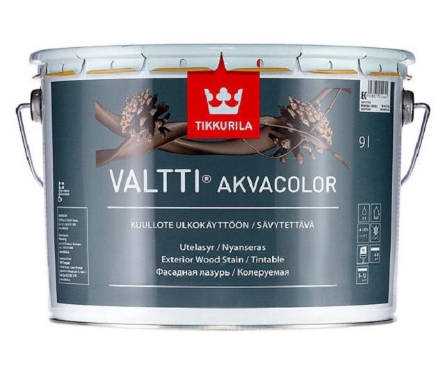 «Валтти Акваколор» от «Тиккурила» — отличное защитное средство, которое можно колеровать в нужный оттенок для одновременной отделки деревянных поверхностей.