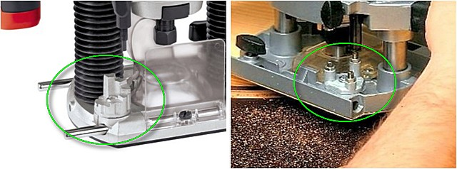 Различные типы ступенчатых «револьверных» упоров на рабочей платформе фрезера