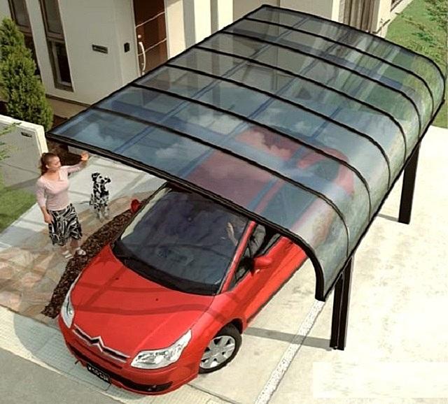Выбирая поликарбонат для навеса, учитывают и место установки конструкции, и ее технические особенности