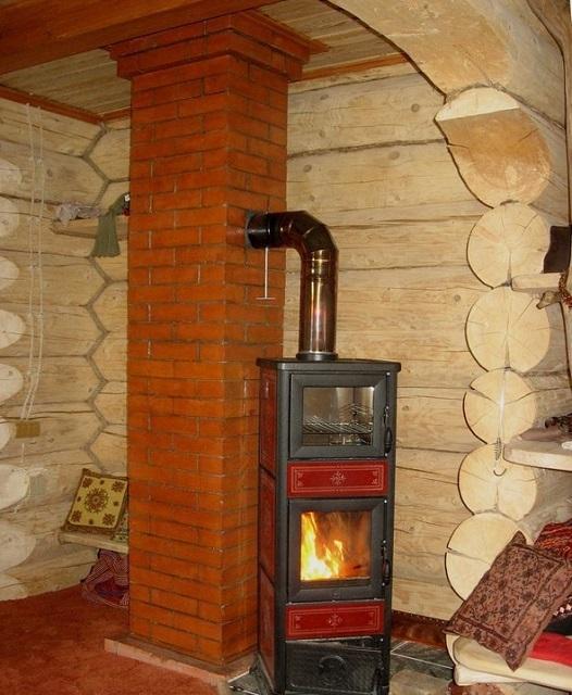 Коренной дымоход – никаких ограничений нет, но все же в банях он встречается нечасто.