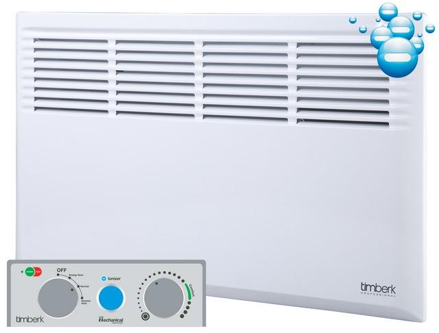 Настенный конвектор, оснащенный функцией ионизации нагреваемого им воздуха