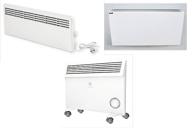 Различные варианты расположения отверстий (решеток) для выхода нагретого конвекционного потока воздуха