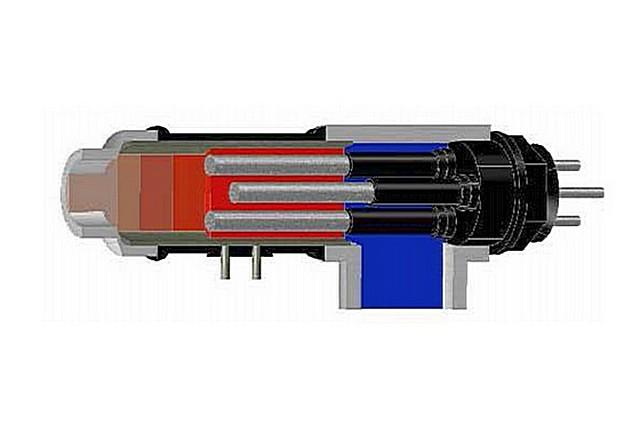 Отличие конструкции электродного котла, работающего от трехфазной сети