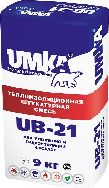 Один из видов теплых фасадных штукатурок – популярный состав «Umka UB-21»