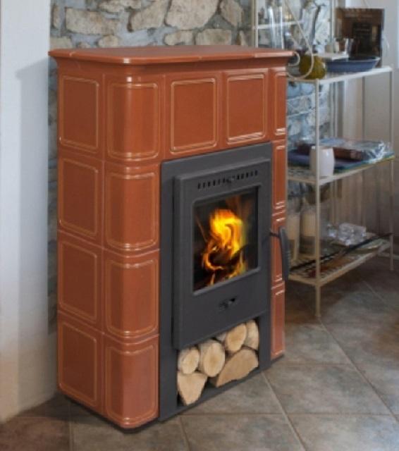 Печь длительного горения с керамической облицовкой