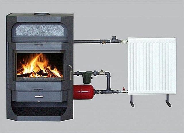 Печь длительного горения с водяным контуром.