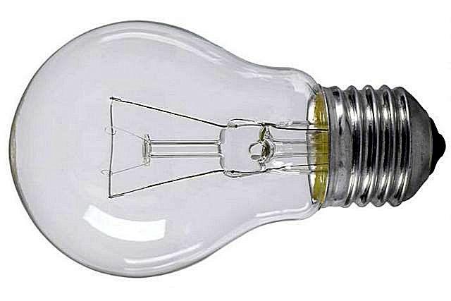 Всем знакомые лампы накаливания с прозрачной колбой