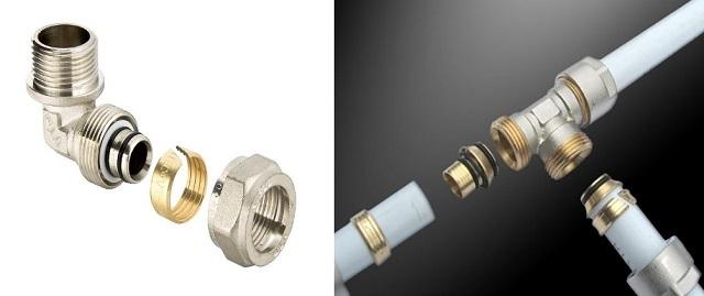 Менее надежное, но зато не требующее специального инструмента соединение с помощью фитингов с цанговым узлом