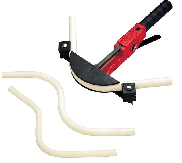 Трубогиб ТЮБ БЕНДЕР MAXI MSR. Благодаря этому инструменту изгиб получается аккуратным и плавным, без риска залома.