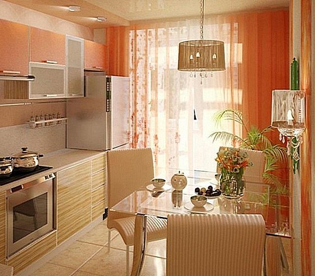 Кухня, оформленная в теплых тонах, всегда будет казаться уютной