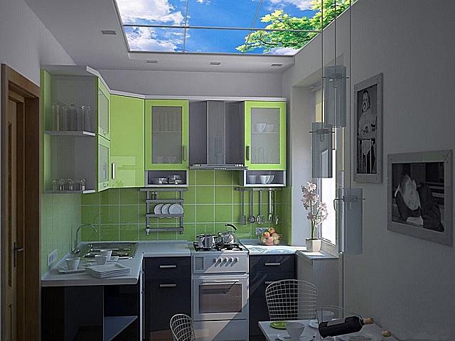 Светящееся панно на потолке – и визуальное расширение пространства, и равномерное «базовое» освещение